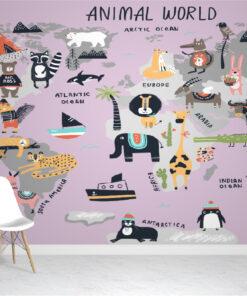 Animal World Wallpaper Mural
