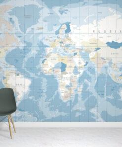 Cool World Map Wallpaper Mural