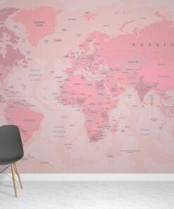 Pink Atlas Wallpaper Mural