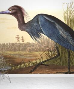 Blue Crane Wallpaper Mural