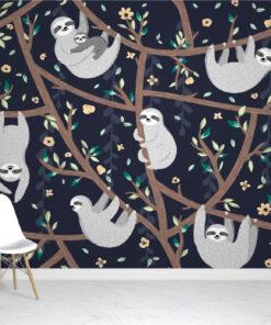 Baby sloth Wallpaper Mural