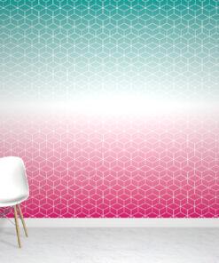 Ombre Teal Wallpaper Mural