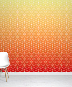 Red Ombre Wallpaper Mural