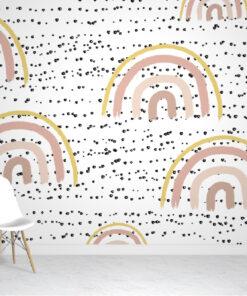 Rainbows & Polka Wallpaper Mural
