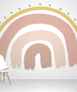 Pink Rainbow Wallpaper Mural