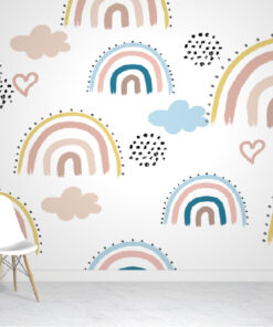 Rainbows & Clouds Wallpaper Murals