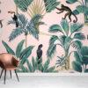 Pink Exotic Wallpaper Mural