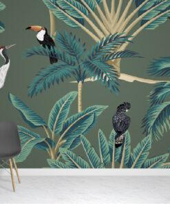 Vintage jungle Wallpaper Mural