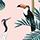Tropical vintage botanical menu icon