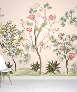 Exotic Chinoiserie Wallpaper