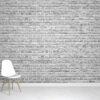 White Brick Wallpaper Mural