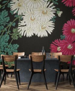Chrysanthemums Wallpaper Mural