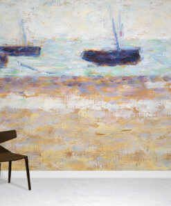 Four Boats Wallpaper Mural