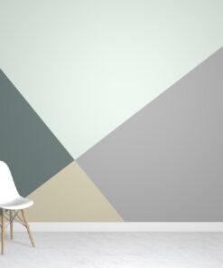 Geometric Green Wallpaper Mural