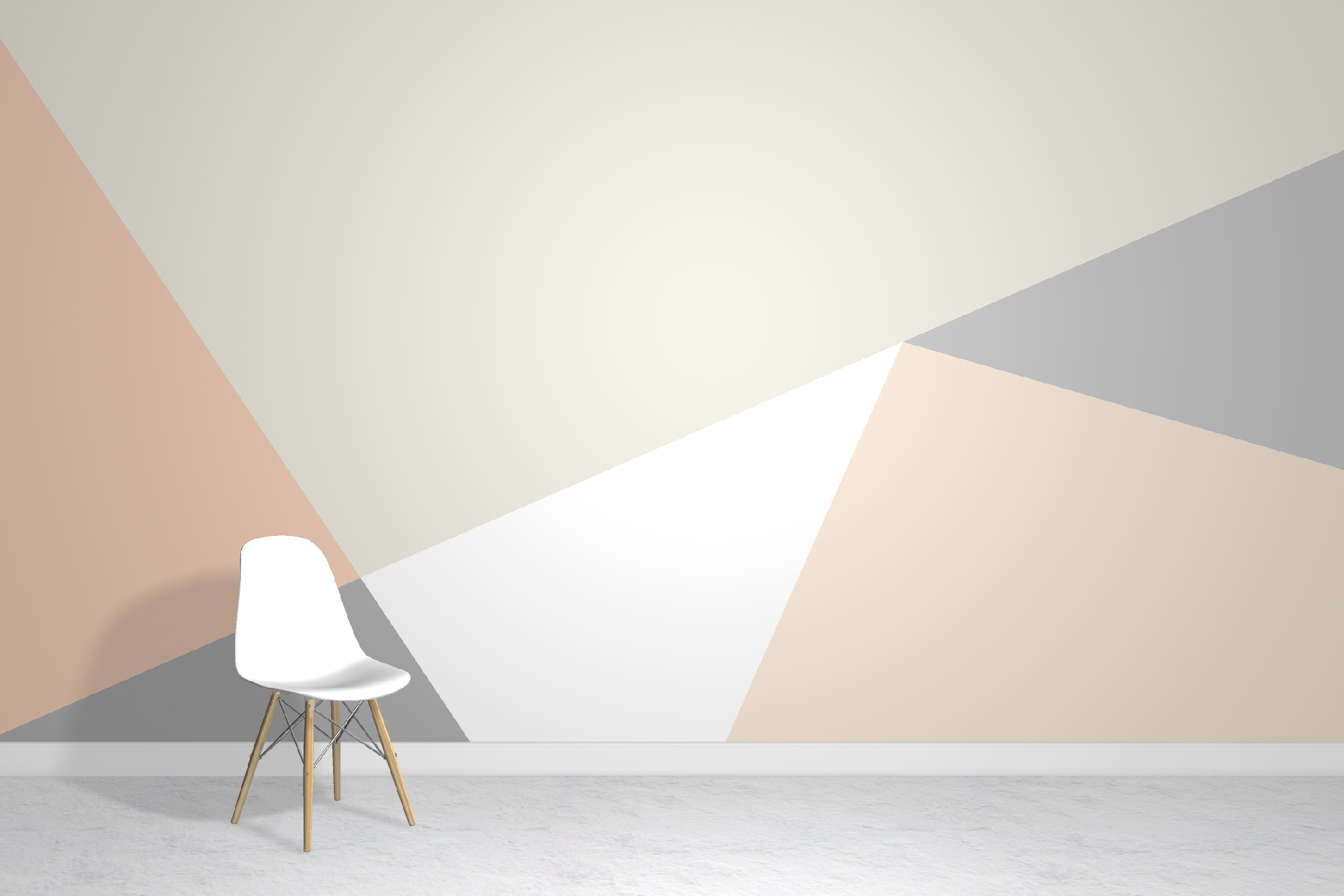 Soft Geometric Wallpaper Mural