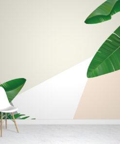 Tropical Geometric Wallpaper Mural