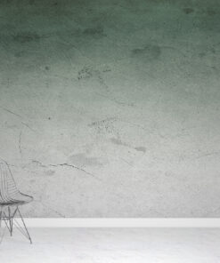Green Ombre Plaster Wallpaper Mural