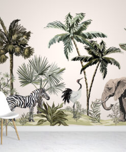 Jungle Animals Wallpaper mural