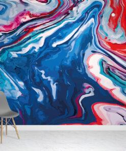 Multi-Coloured Marble Wallpaper Mural