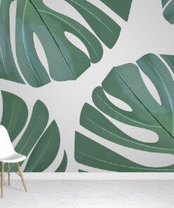 Giant Tropical Leaves Wallpaper