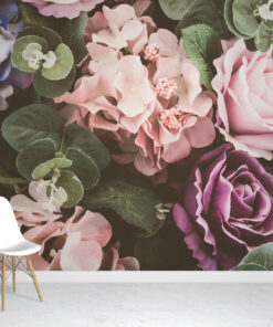 Pastel Flowers Wallpaper Mural