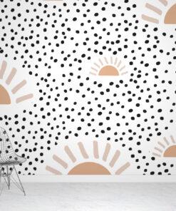 Scandinavian Sun Rays & Polka Dots