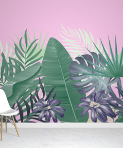 Purple Tropical Wallpaper Mural