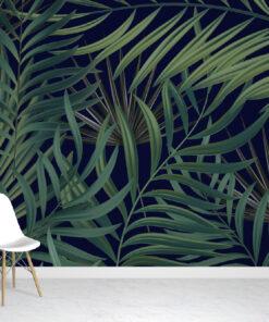 Dark Tropical Leaf Wallpaper