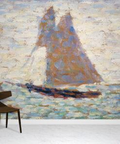 Two Sailboats Wallpaper Mural