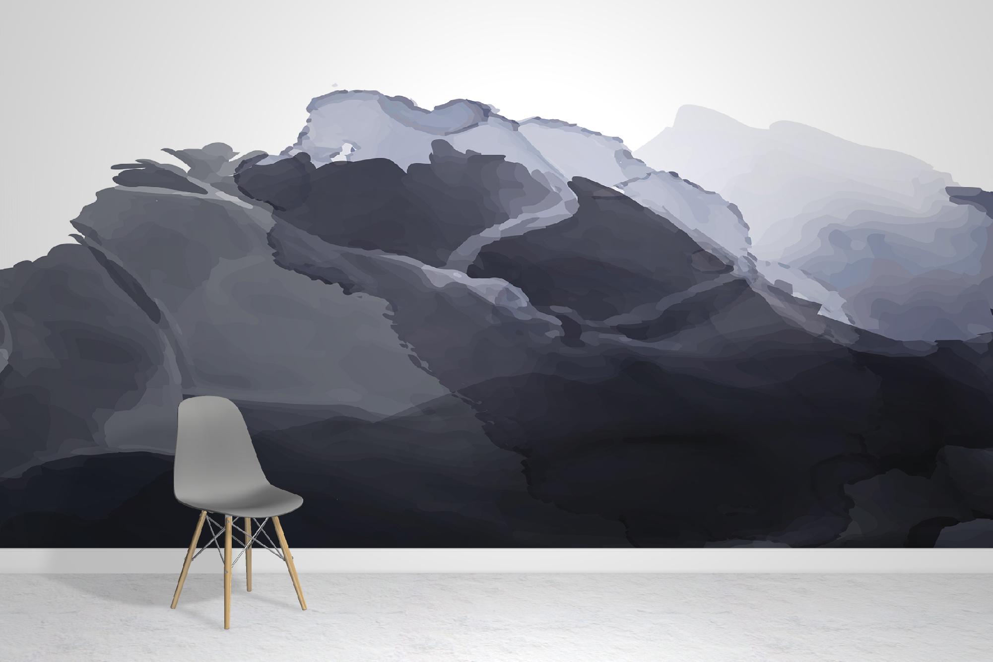 Watercolour Grey Wallpaper Mural