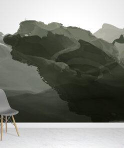 Green Watercolour Wallpaper Mural