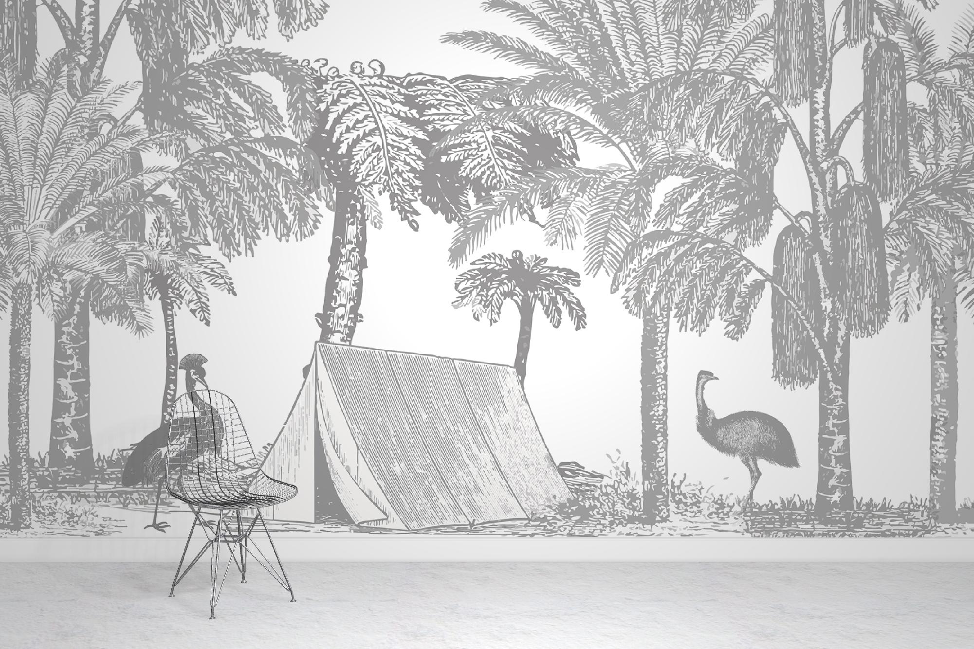 Birds In The Jungle Wallpaper
