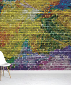 Graffiti Brick wallpaper