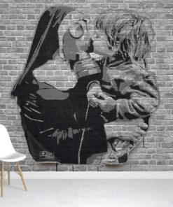 Stencil Graffiti Wallpaper Mural