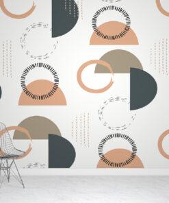 geometric nude & earth wallpaper