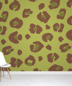 Lime Leopard Wallpaper Mural