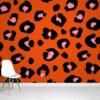 Orange Leopard Print