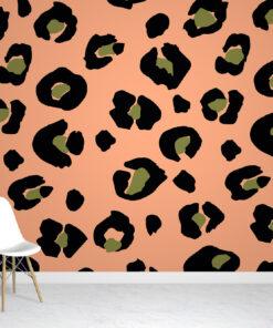 Peach Leopard Print