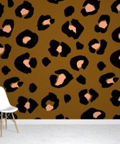 Brown & Pink Leopard Wallpaper