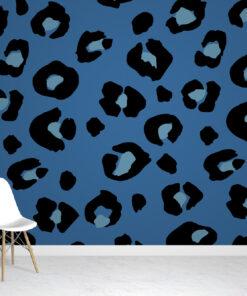 Blue & Black Leopard Print