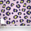 Violet Leopard Wallpaper Mural