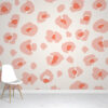 Peach Leopard Print Wallpaper