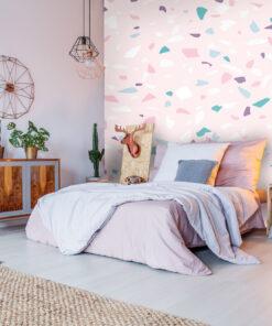 pink terazzo wallpaper