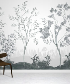 Jouy Treeline Wallpaper Mural