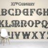 Calligraphy Alphabet Wallpaper Mural