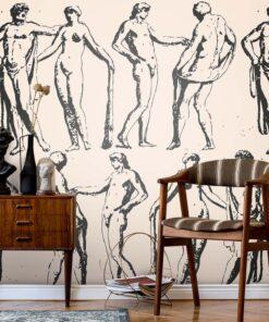 Ancient Sculptures Wallpaper Mural