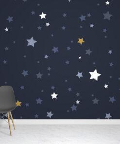 Blue Stars Wallpaper Mural