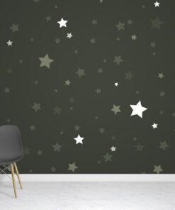 Green Stars Wallpaper Mural