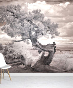 Lone Tree Forest Wallpaper Mural