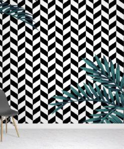 Monochrome Tropical Wallpaper Mural